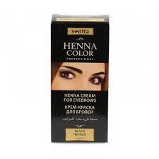Крем-краска для ресниц и бровей черная Venita 15мл