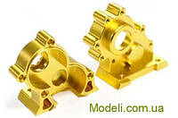 Корпус моторной передачи Team Magic E6 CNC Machined Central Gear Box Gold
