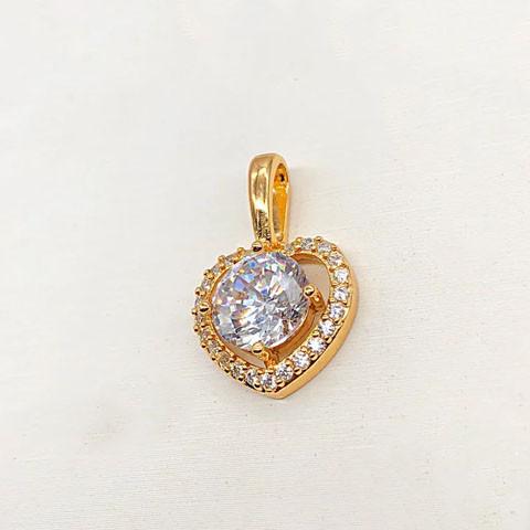 Кулон подвеска Xuping Jewelry Сердечко медицинское золото, позолота 18К. А/В 4655