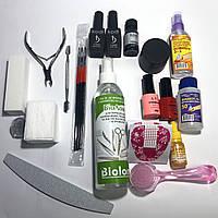Стартовый набор Kodi Professional для наращивания ногтей и маникюра гель лаком без лампы с инструментами