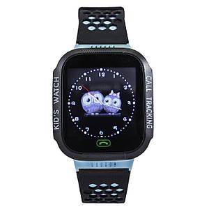 Детские умные смарт-часы с GPS трекером синие Kids Smart Watch with Blue