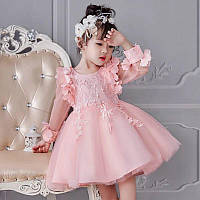 Детское нарядное пышное платье с длинным рукавом р 98