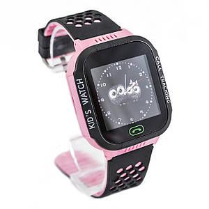 Детские умные смарт-часы с GPS трекером розовые Kids Smart Watch with Pink