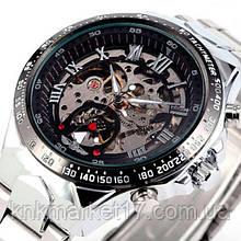 Winner Чоловічі класичні механічні годинник Winner Action Silver 1535