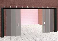 Откатные встречные четырех-створчатые противопожарные ворота Alutech Marc-R