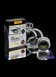 Набір гелевих підводок для очей і брів l'oreal Gel eyeliner 2 in 1 ( чорна і коричнева).