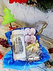 Прикольный новогодне-рождественский подарок - тубус с имбирным печеньем, елочные игрушки, фото 3
