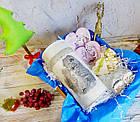Прикольный новогодне-рождественский подарок - тубус с имбирным печеньем, елочные игрушки, фото 2