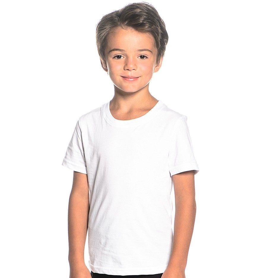 Детская футболка хлопок 100% EZGI Турция размер 42 (6-8 лет) белая