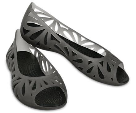 Босоножки женские балетки Кроксы Адрина 3 оригинал / Crocs Women's Adrina III Peep Toe Flat