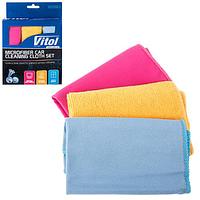 Набор тряпок из микрофибры Vitol (упаковка 3 штуки VSC3030-3)