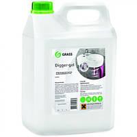 """Засіб для прочищення каналізаційних труб """"Grass digger — gel"""" 5,3 л"""