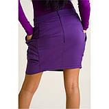 М/L Короткая трикотажная юбка в цвете баклажан SALE!, фото 2