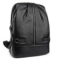 Рюкзак городской черный натуральная кожа для мужчин и женщин BRETTON 38*29*15 см (16литров), BP 8003-67 black