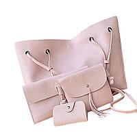 Женская сумка LADY BAG 2B Пудровый D1001 (S06545)