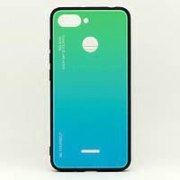 Чехол Gradient для Xiaomi Redmi 6 бампер накладка Green-Blue, фото 1