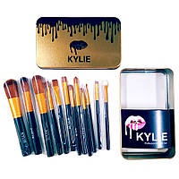 Kylie кисточки большие черные 12 штук (S06619)