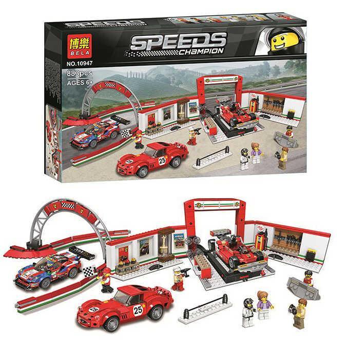 """Конструктор Bela Speeds 10947 (18/2) """"Пит-Стоп"""" 883 детали, в коробке"""