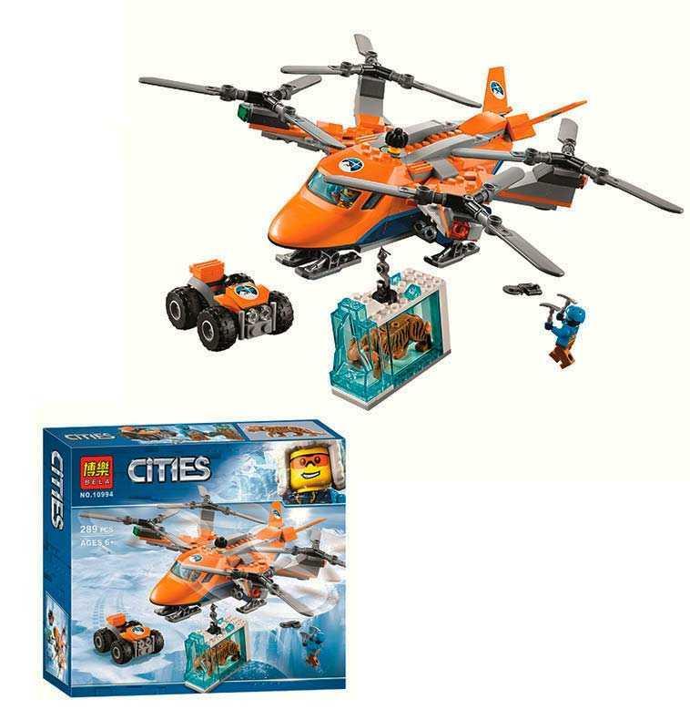 """Конструктор 10994 (24) Bela Cities """"Арктический вертолёт"""", 289 деталей, в коробке"""