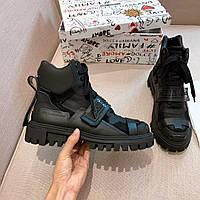 Ботинки демисезонные кожаные Dolce Gabbana