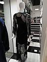 Халат натільний жіночий, VALENCIA чорний, M,  ТМ Komilfo, фото 6