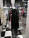 Халат натільний жіночий, VALENCIA чорний, M,  ТМ Komilfo, фото 5