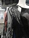 Халат натільний жіночий, VALENCIA чорний, M,  ТМ Komilfo, фото 4
