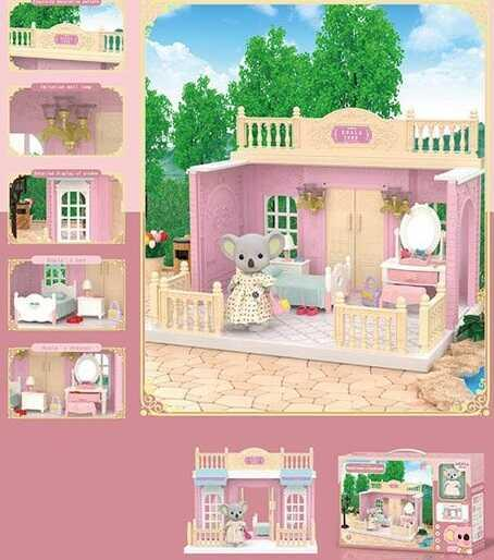 """Домик Коалы FDE 8657 (36) """"Спальня"""", 1 фигурка, с мебелью, в коробке"""
