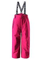 Зимний брюки на подтяжках для девочки Reimatec Loikka 522281-4650. Размеры 92 - 152., фото 1