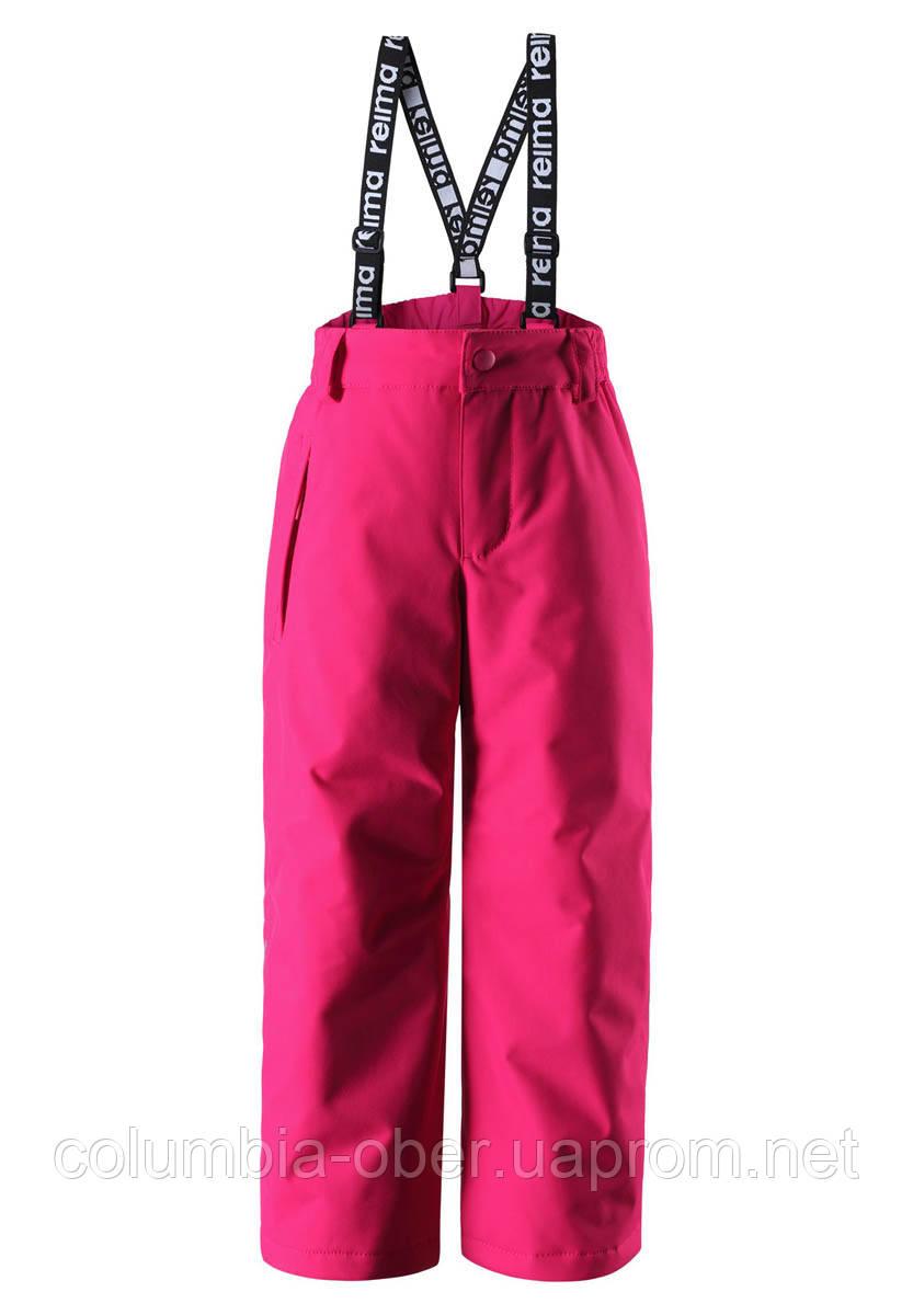 Зимний брюки на подтяжках для девочки Reimatec Loikka 522281-4650. Размеры 92 - 152.