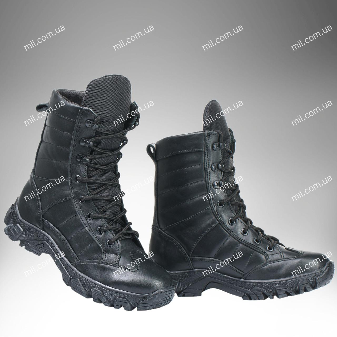 Берцы зимние / военная, тактическая обувь INFERNO Dark V2 (глянц)