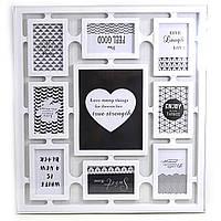 "0197 Семейная фоторамка с сердечком на 9 фото 9 в 1 ""Frame"""