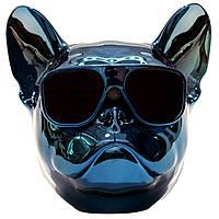Портативная Bluetooth колонка Sensor Dog в виде головы французского бульдога, ИЗУМРУД