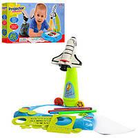 Детский проектор для рисования Ракета 6611 36 слайдов игровой набор