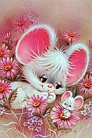 """Набор алмазной вышивки (мозаики) """"Милые мышата"""""""