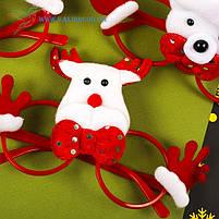 Новогодние очки Деда Мороза микс, фото 2
