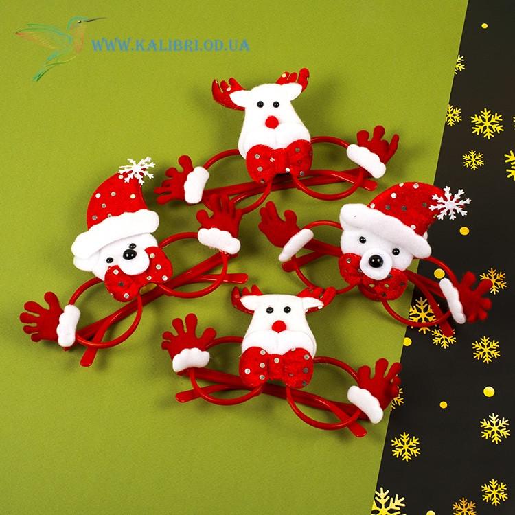 Новогодние очки Деда Мороза микс