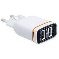 Сетевое зарядное устройство на 2 USB Moxom KH-22 Micro USB (S06970)