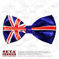 Галстук бабочка в цветах флага Великобритании UK.  Продажа и прокат.