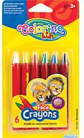 Карандаши для лица 6 цветов  Colorino  (блистер)         32629PTR