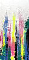"""Авторская картина акрилом в интерьер """"Мерцание света"""",80*40см деревянный подрамник"""