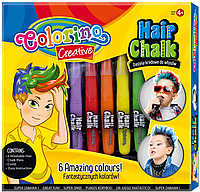 Крейда для декору волосся класичні кольори Colorino 36988PTR