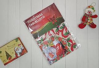 Рождественская скатерть Санта Клаус из ПВХ 137*120 см