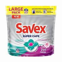 """Капсулы для стирки Savex 2 в 1 """"Fresh"""" (25шт.)"""