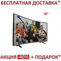 "Телевизор смарт изогнутый экран 50""  Android 7.1 (1/4)) 4k UHD DVB-T DVB-C DVB-T2"