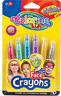 Карандаши для лица Metalliс 6 цветов  Colorino  (блистер)        65917PTR