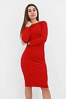 S (42-44) / Зручне повсякденне плаття-футляр Helga, червоний
