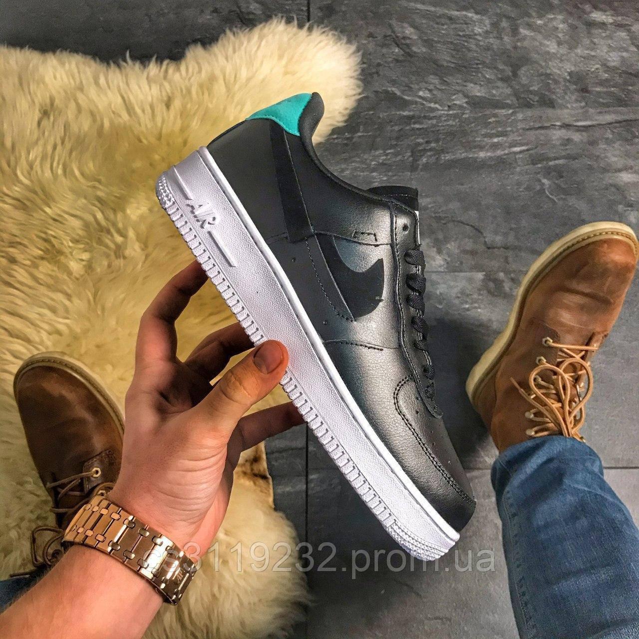 Женские кроссовки Nike Air Force Low Lunar (черные)