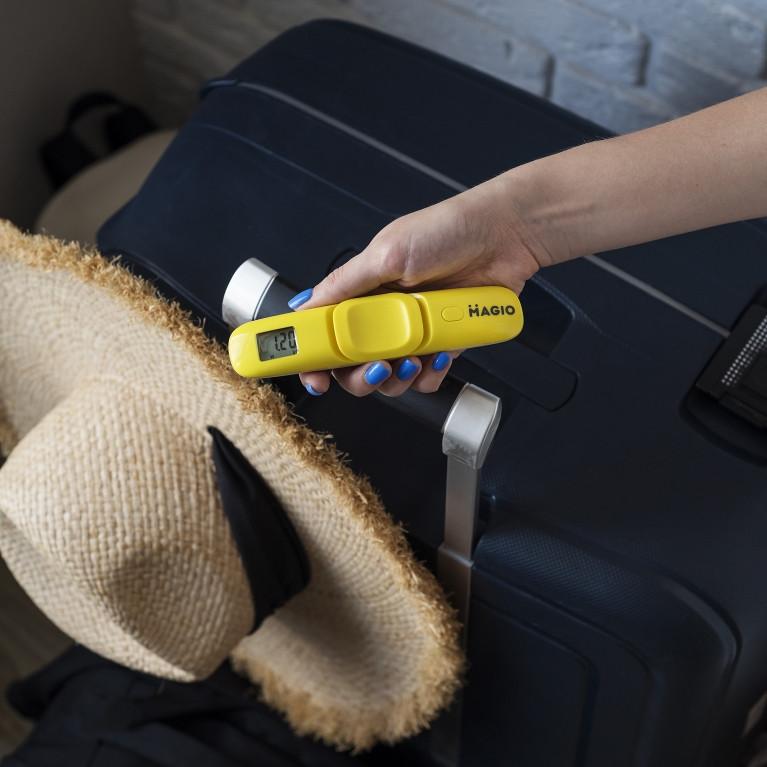 Весы-кантер электронные для багажа, чемоданов Magio MG-145 50 кг Желтый