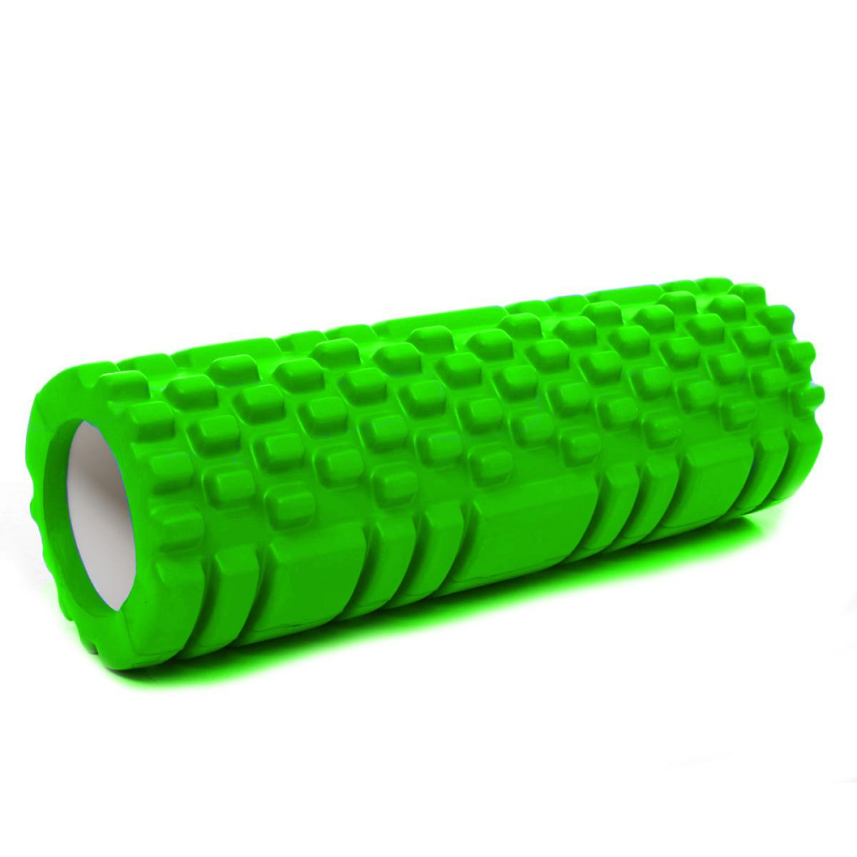 Валик (ролик, роллер) масажний для йоги, фітнесу (спини і ніг) OSPORT (MS 1836) Салатовий